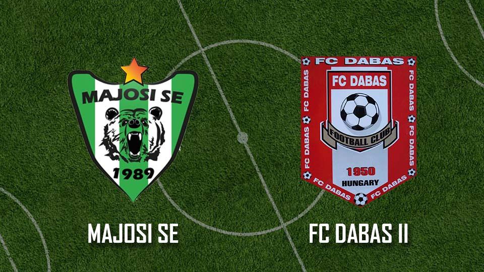 Beharangozó: Majosi SE – FC Dabas