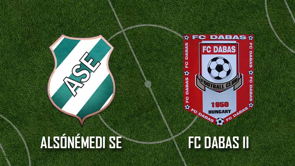 Alsónémedi SE – FC Dabas II (0:3)